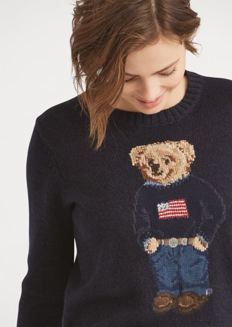 efd655d77 Ralph Lauren Polo Bear Cotton-Linen Sweater