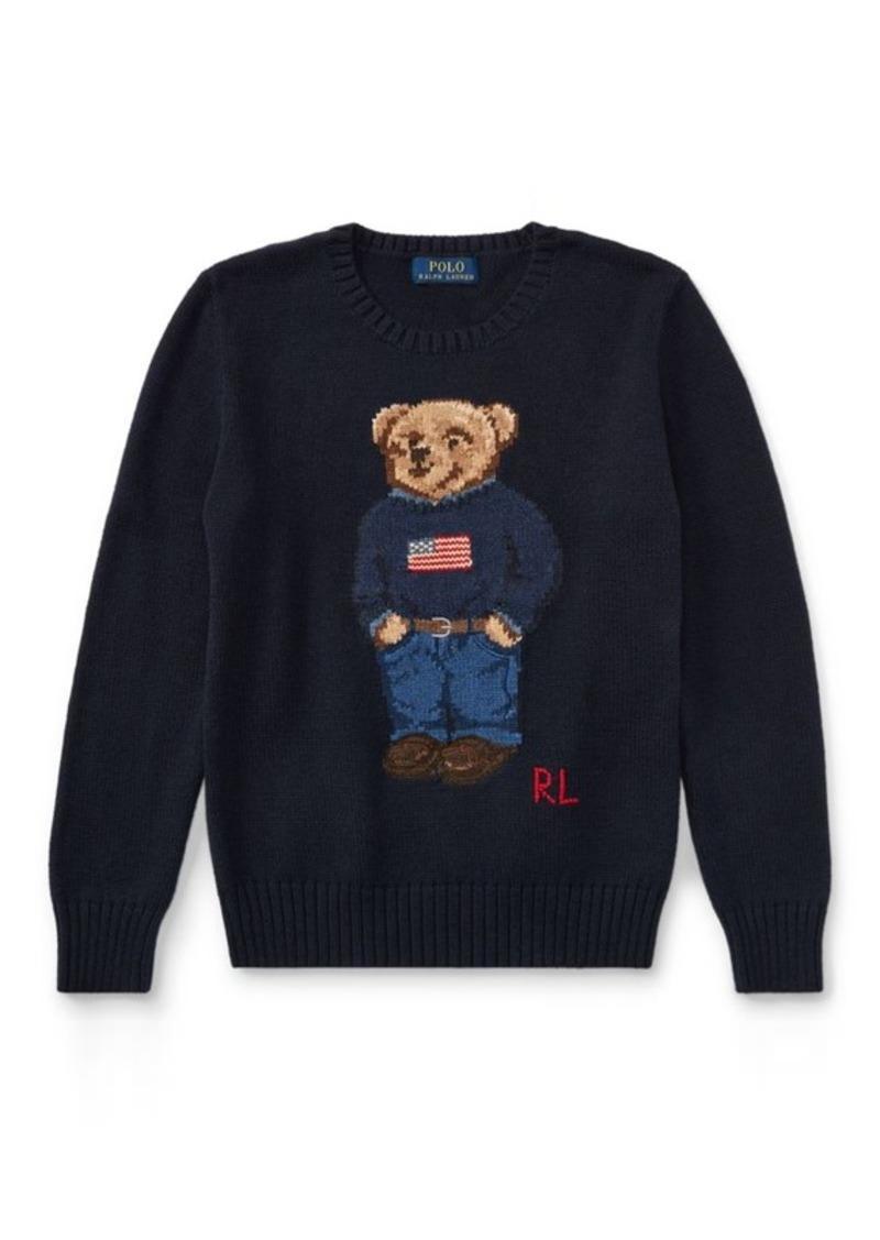 Polo Bear Cotton Sweater. Ralph Lauren