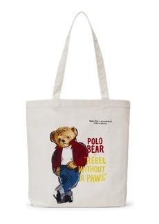 Ralph Lauren Polo Bear Film Canvas Tote Bag