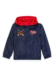 Ralph Lauren Polo Bear Hooded Coach Jacket
