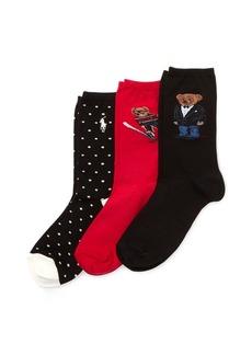 Ralph Lauren Polo Bear Sock 3-Pack Gift Set