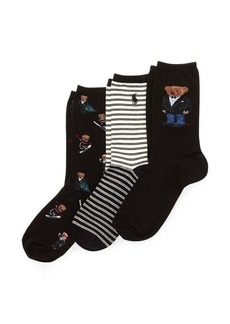 Ralph Lauren Polo Bear Sock 3-Pack Gift Set