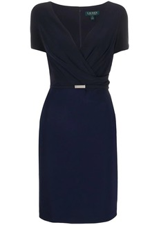 Ralph Lauren: Polo belted V-neck cocktail dress