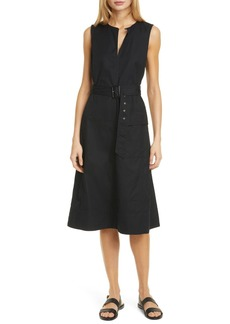 Ralph Lauren: Polo Bevlry Sleeveless Belted Cotton Dress