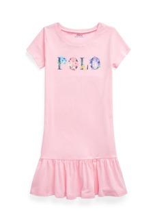 Ralph Lauren: Polo Big Girls Floral-Logo Jersey T-shirt Dress