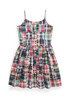 Ralph Lauren: Polo Big Girls Patchwork Madras Dress