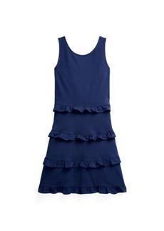 Ralph Lauren: Polo Big Girls Ruffled Jersey Dress
