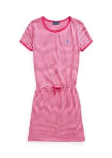 Ralph Lauren: Polo Big Girls Striped Cotton Jersey T-shirt Dress