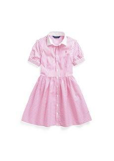 Ralph Lauren: Polo Big Girls Striped Shirtdress