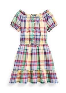 Ralph Lauren: Polo Big Girls Tiered Madras Dress