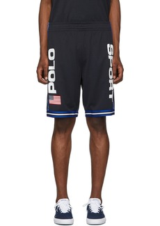 Ralph Lauren Polo Black Performance Mesh 'Polo Sport' Shorts