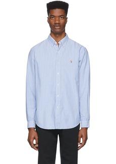 Ralph Lauren Polo Blue & White Striped Oxford Shirt