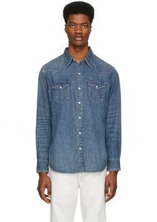 Ralph Lauren Polo Blue Denim Western Shirt