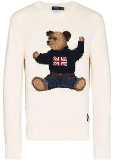 Ralph Lauren Polo British Polo Bear knitted jumper