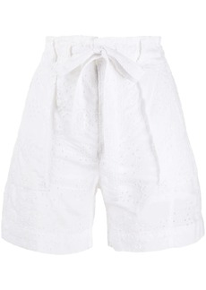 Ralph Lauren: Polo Broderie Anglaise cotton shorts