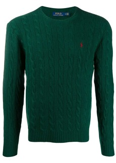 Ralph Lauren Polo cable knit logo embroidered jumper
