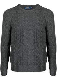 Ralph Lauren Polo cable knit logo-embroidered jumper