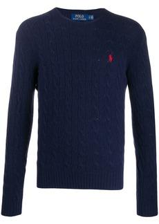 Ralph Lauren Polo cable knit logo jumper