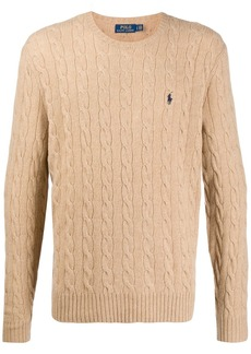 Ralph Lauren Polo cable knit logo pullover