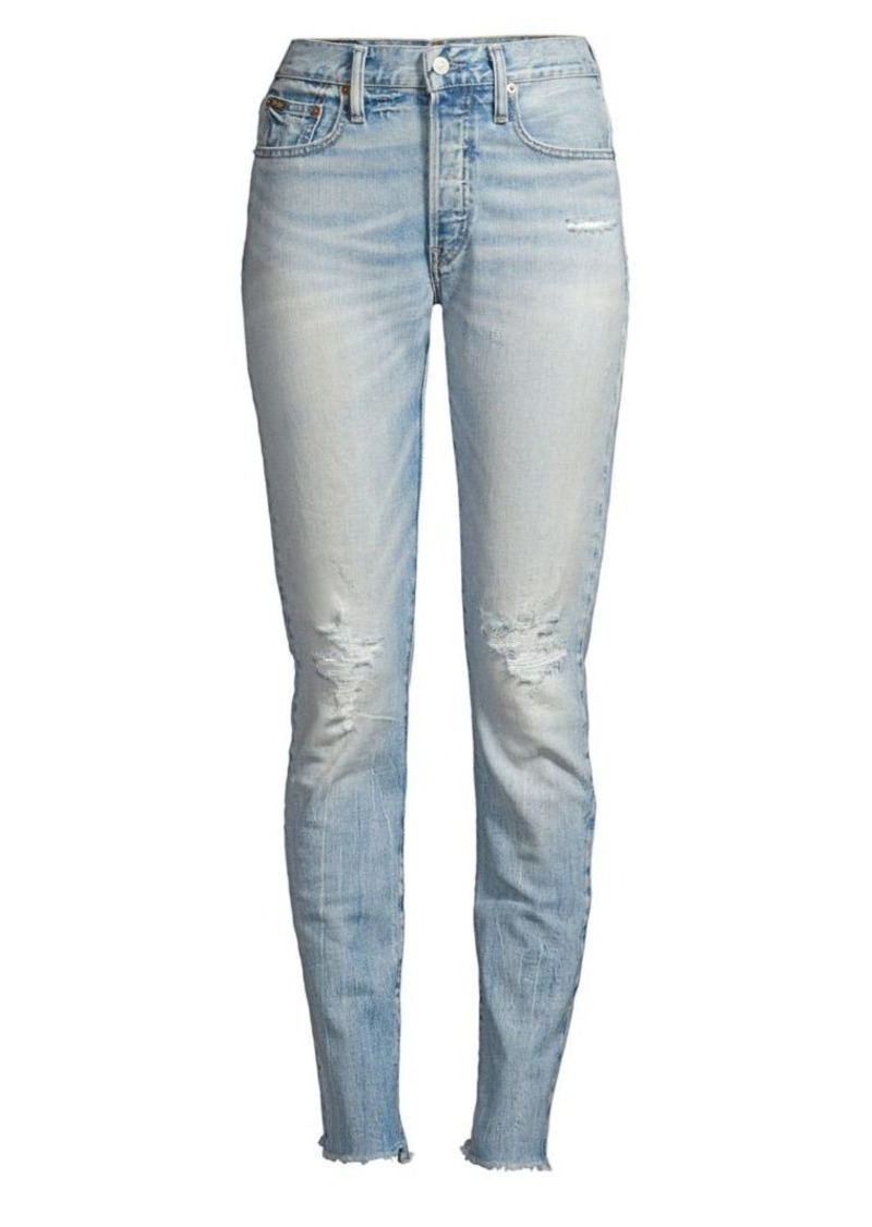 Ralph Lauren: Polo Callen High-Rise Slim-Fit Ripped Jeans