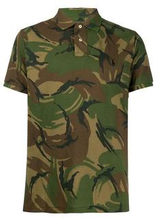 Ralph Lauren Polo camouflage-print short-sleeved polo shirt