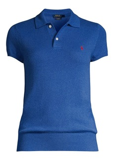 Ralph Lauren: Polo Cashmere Jersey Polo Short-Sleeve Sweater