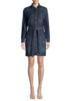 Ralph Lauren: Polo Casual A-Line Tie-Waist Denim Shirt Dress