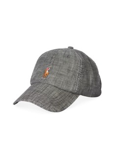 Ralph Lauren Polo Chambray Embroidered Pony Sport Cap
