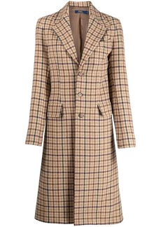 Ralph Lauren: Polo check-print single-breasted coat