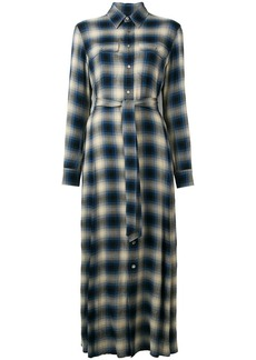 Ralph Lauren: Polo checked maxi shirt dress
