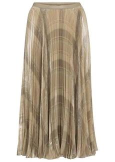 Ralph Lauren: Polo Checked pleated midi skirt