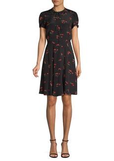 Ralph Lauren: Polo Cherry-Print Crepe Dress
