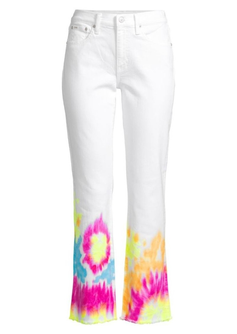 Ralph Lauren: Polo Chrystie Tie-Die Stretch-Cotton Jeans