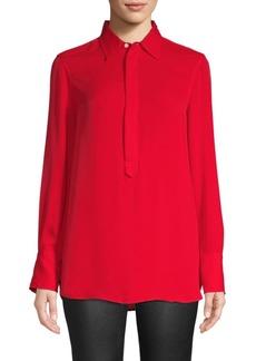 Ralph Lauren: Polo Collared Long Sleeve Blouse