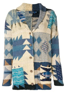 Ralph Lauren: Polo colour-block embroidered cardigan