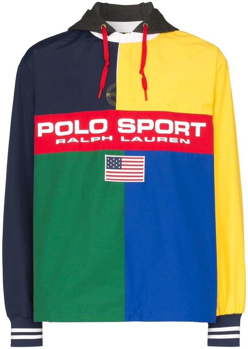 Ralph Lauren Polo colour-block hooded jacket