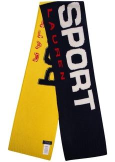 Ralph Lauren Polo colour-block logo scarf