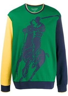 Ralph Lauren Polo colour block logo sweatshirt
