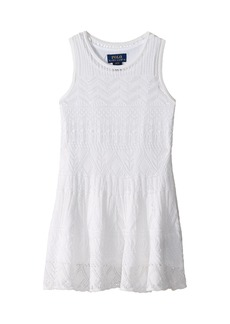 Ralph Lauren: Polo Combed Cotton Pointelle Sweater Dress (Toddler)