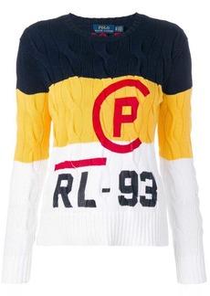 Ralph Lauren: Polo contrast panel logo jumper