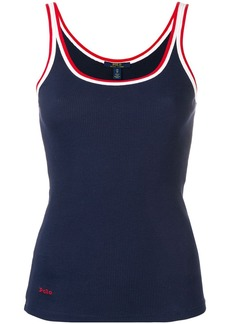 Ralph Lauren: Polo contrast trim tank top