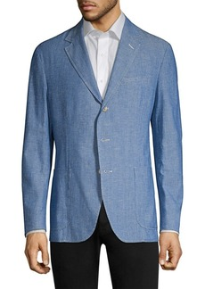 Ralph Lauren Polo Cotton Classic-Fit Chambray Sportcoat