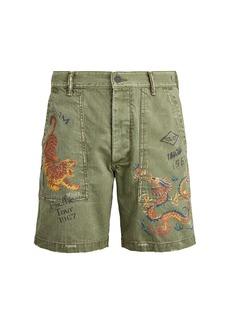 Ralph Lauren Polo Cotton-Herringbone Army Shorts