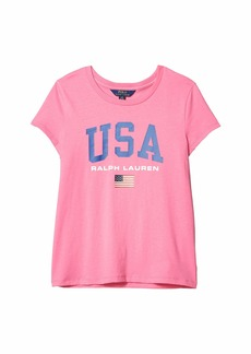 Ralph Lauren: Polo Cotton Jersey Graphic Tee (Little Kids/Big Kids)