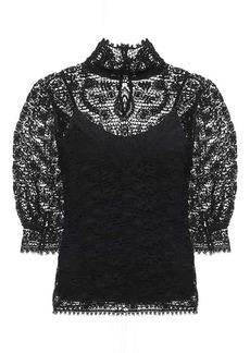 Ralph Lauren: Polo Cotton-lace top