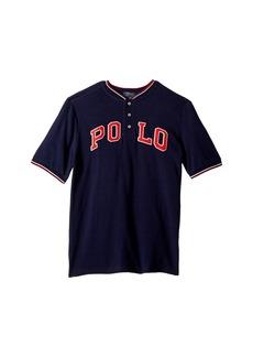 Ralph Lauren: Polo Cotton Mesh Henley Shirt (Big Kids)