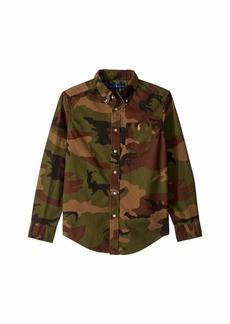 Ralph Lauren: Polo Cotton Oxford Shirt (Big Kids)