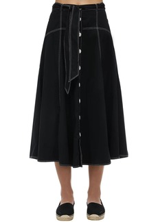 Ralph Lauren: Polo Cotton Round Midi Skirt