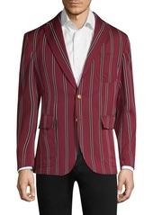 Ralph Lauren Polo Cricket Stripe Wool & Cotton Sportcoat