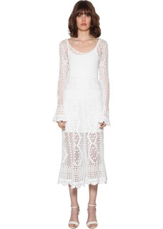Ralph Lauren: Polo Crochet Cotton Midi Dress